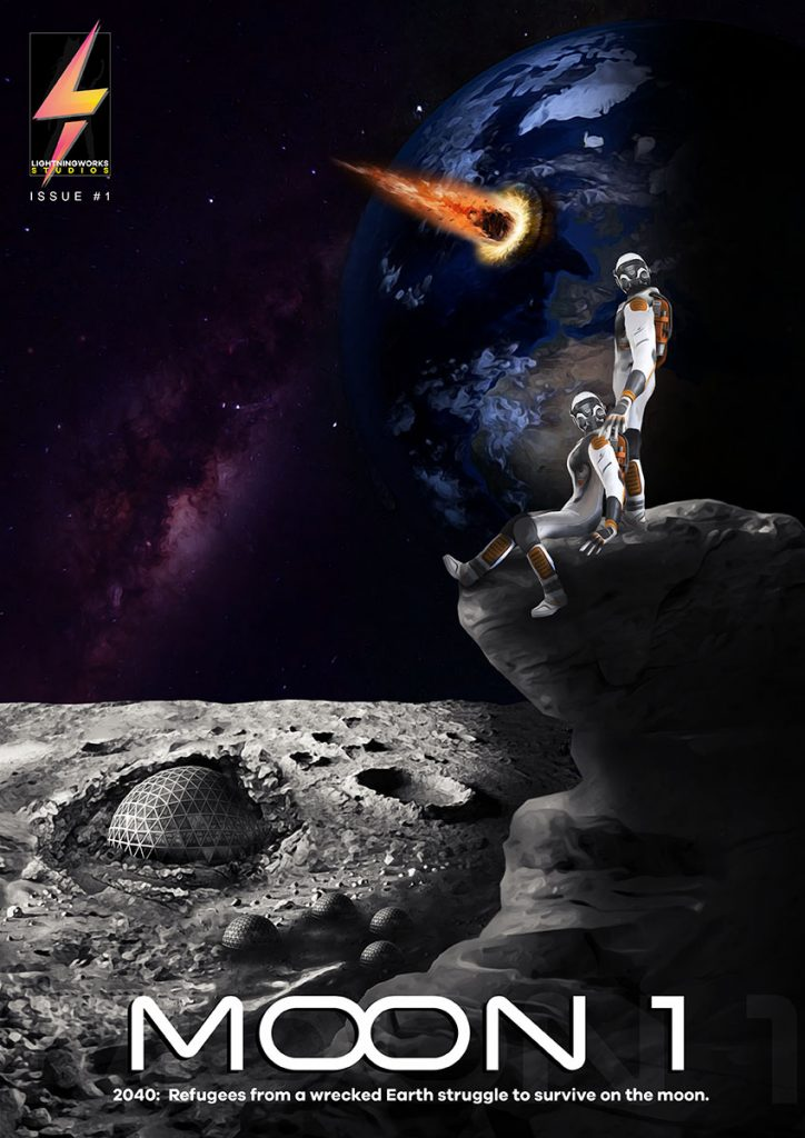 Moon-1 Comic book cover - option1