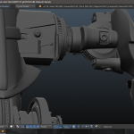Throng 3D VR arm joint and other parts